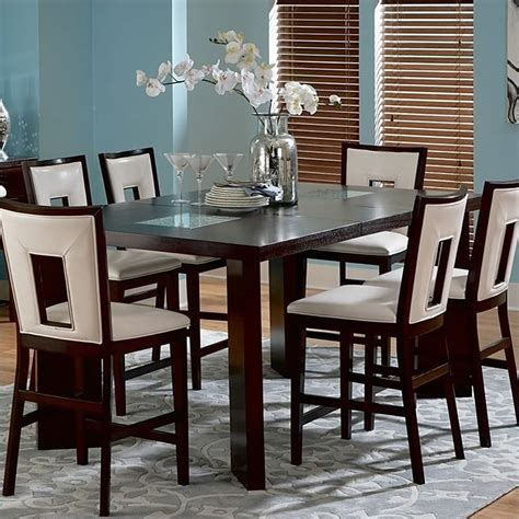 espresso counter height table steve silver company delano counter height dining table in