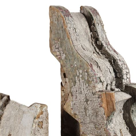 Antique Wood Corbels For Sale by Antique Wood Corbels With White Crackled Paint C 1880 S