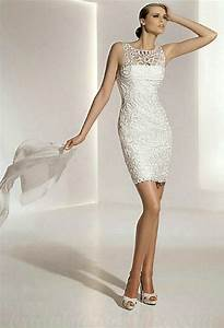 white casual second marriage short wedding dresses With wedding dresses for a second wedding