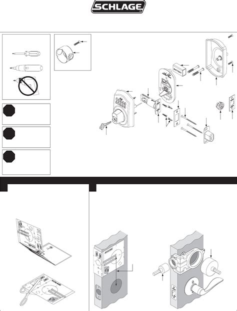 schlage templates schlage door be365f user guide manualsonline