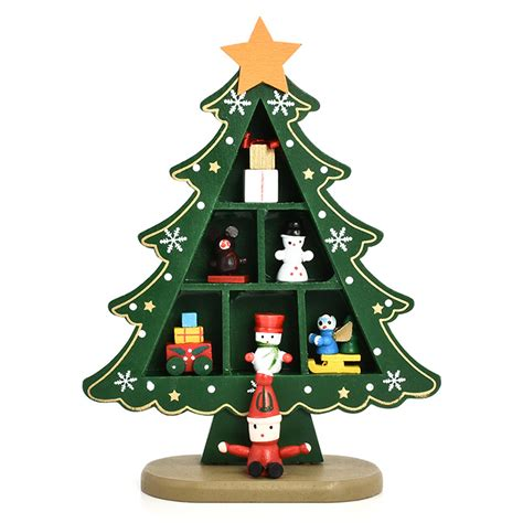 christmas tree table decoration desk table top mini wooden christmas tree decorations 5039