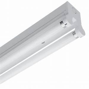 Twin 2 x 36W T8 Fluorescent Batten Fitting - 4ft QVS Direct
