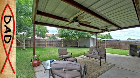 patio cover  metal  wood youtube