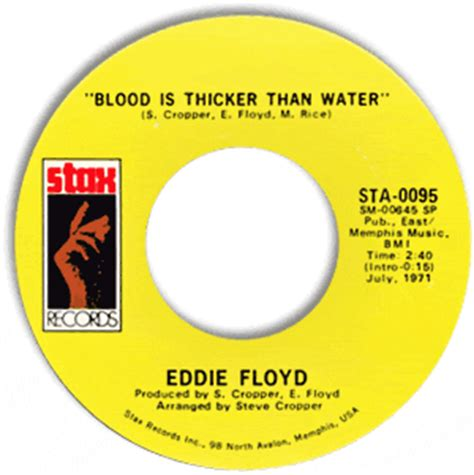 Eddie Floyd Don T Rock The Boat by Classic Soul 45 Eddie Floyd Blood Is Thicker Than