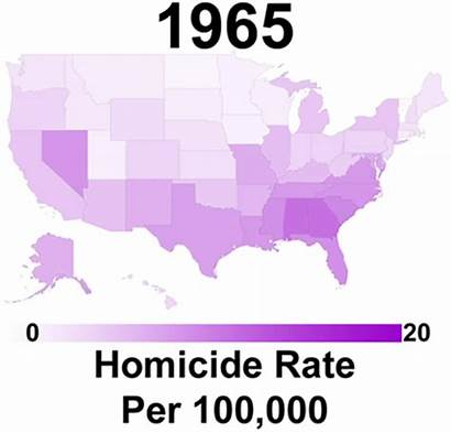 Homicide States United Rate History Map Homicides