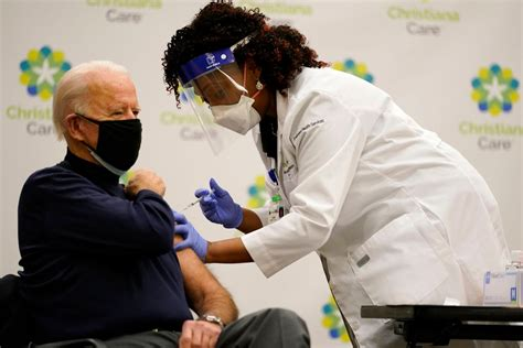 Biden Gets COVID-19 Vaccine, Says 'Nothing to Worry About'