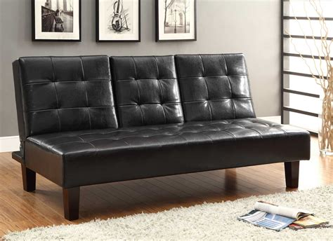 click clack bed settee homelegance reel click clack sofa bed brown