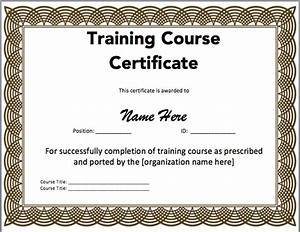 15 training certificate templates free download designyep With free downloadable certificate templates in word