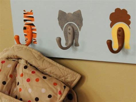 peinture chambre romantique déco maison diy des patère animales pour chambre d 39 enfant