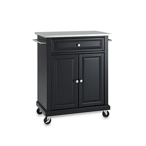 kitchen island rolling cart crosley stainless top rolling portable kitchen cart island