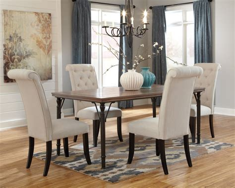 dining room table 4 chairs tripton rectangular dining room table 4 uph side chairs