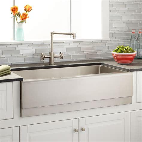farmhouse kitchen sinks ebay signature hardware 36 quot optimum stainless steel farmhouse 7159
