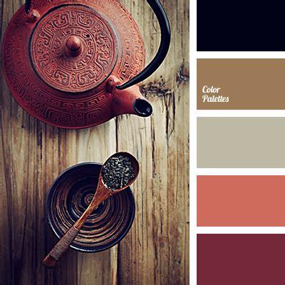 burgundy and brown color palette ideas