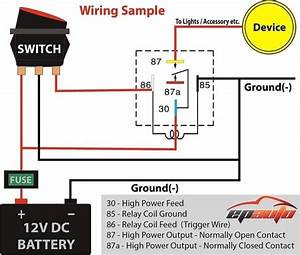 12 Volt Relay Wiring Diagram  U2013 Diagram Sample