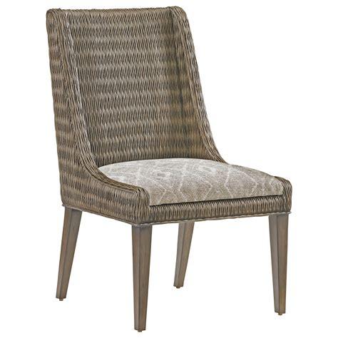 fabric side chairs bahama home cypress point brandon woven rattan side 3652