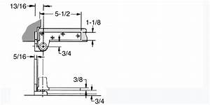 Jamb Mounted Heavy Door 3  4 Inch Offset Pivot Set  Abh