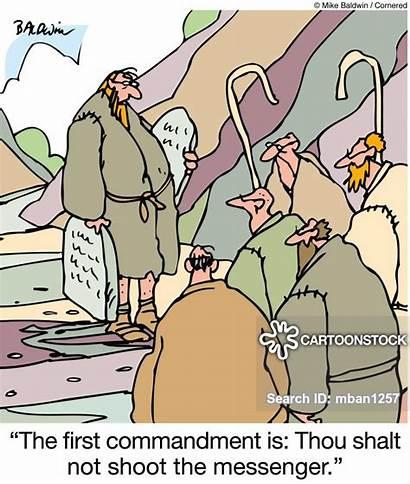 Messenger Shoot Commandments Party Pooper Cartoon Cartoons