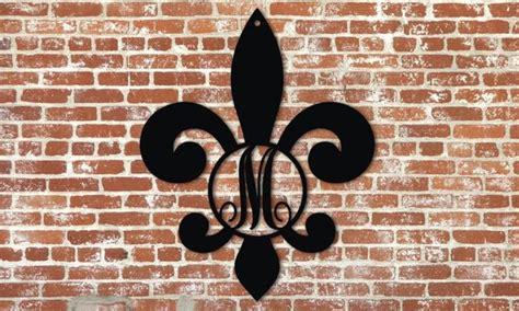 fleur de lis monogram signs  metal unlimited      sizes