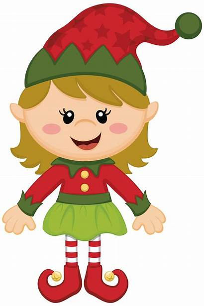 Elf Santa Clipart Claus Tree Natale Elfo