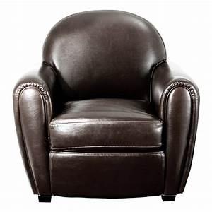 Mon Fauteuil Club : fauteuil club vintage cro te de cuir marron mooviin ~ Melissatoandfro.com Idées de Décoration