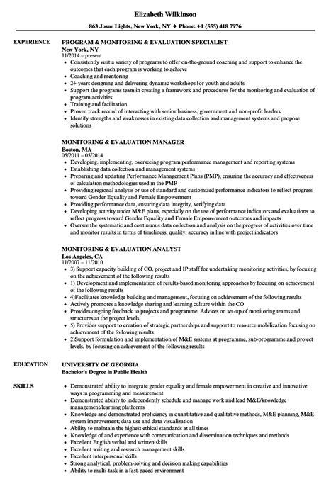 Resume Evaluation monitoring evaluation resume sles velvet