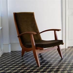 Fauteuil Scandinave Vert : fauteuil scandinave vert kaki brocante avenue ~ Teatrodelosmanantiales.com Idées de Décoration