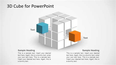cube shape  powerpoint slidemodel