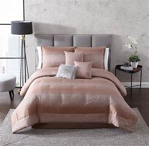 Mainstays, 7, Piece, Metallic, Stripes, Comforter, Set, Full