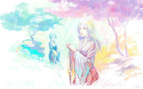 watercolor anime yukata watercolor japanese clothes anime wallpaper