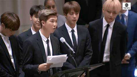 bts give speech   general assembly sbs popasia