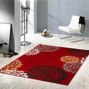 Teppich Gelb Grau : kurzflor velours teppich dandelion rot braun grau gelb ~ Indierocktalk.com Haus und Dekorationen