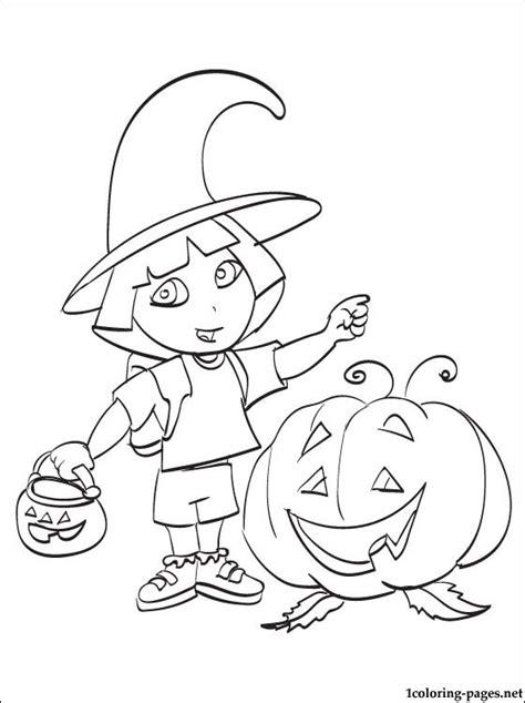 Dora Halloween Coloring Pages   Bestofcoloring.com