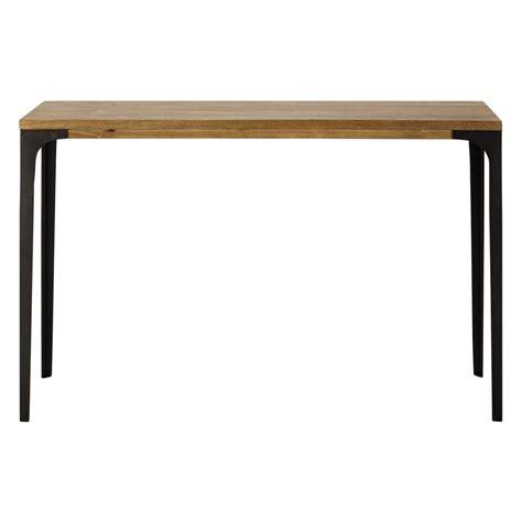 chambre bébé table console en métal et manguier massif l 120 cm