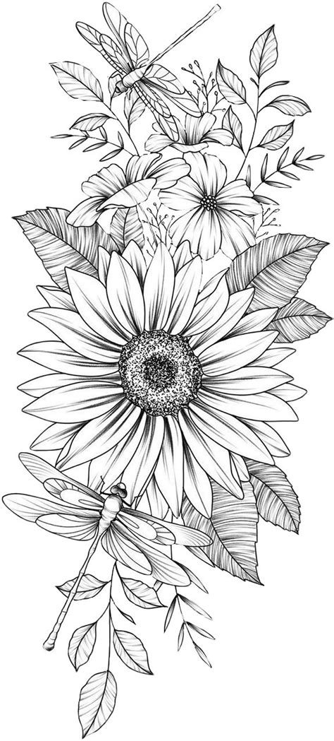 Sunflower   Sunflower coloring pages, Flower coloring