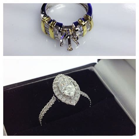 redesign marquise halo engagement ring samuel