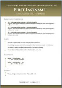 Free Templates Of Resumes Free Cv Templates 50 To 56 Freecvtemplate Org