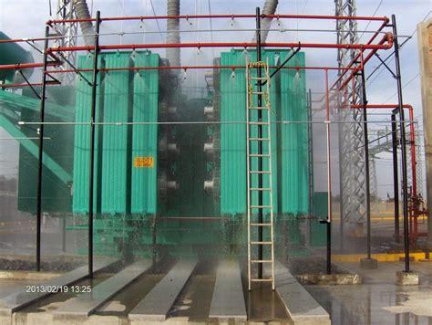 foto sistema de diluvio en transformador de fireengineers