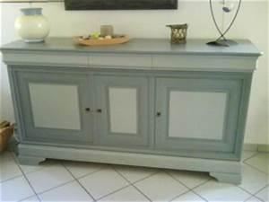 Meuble Repeint En Gris Perle : meuble style louis philippe relook d co at home ~ Dailycaller-alerts.com Idées de Décoration