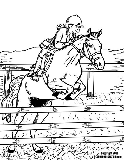 horse sports coloring pages  send