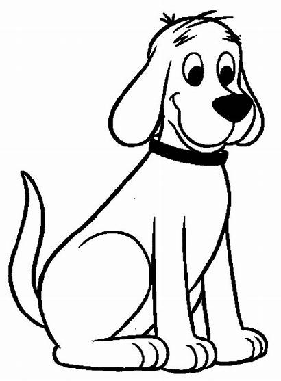 Dog Drawing Sitting Coloring Cartoon Puppies Pages