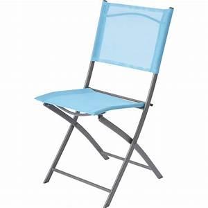 Chaise En Acier : chaise de jardin en acier denver bleu leroy merlin ~ Teatrodelosmanantiales.com Idées de Décoration