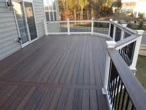 Deck Stain Colors with White Railing