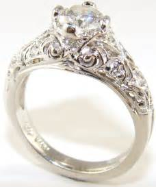 antique wedding ring moissanite vintage engagement rings ipunya