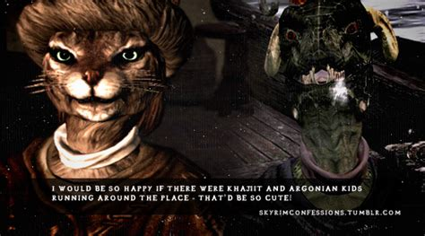 I Would Be So Happy If There Were Khajiit And Argonian