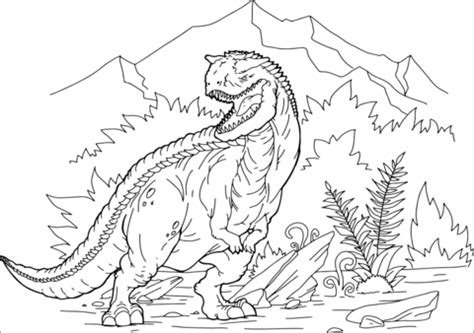 carnotaurus coloring page  printable coloring pages