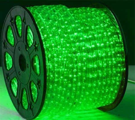 led rope light green led and lighting on