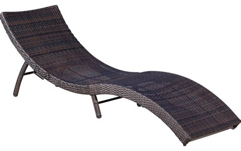 maureen outdoor multibrown pe wicker folding chaise lounge