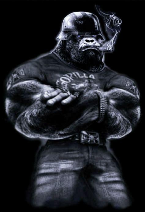 Big Cigar Biker Gorilla