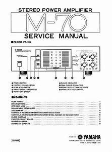 Yamaha M-70 Power Amplifier   Original Service Manual