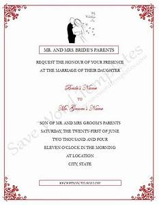 Wedding invitation wording wedding invitation templates for Wedding invitation sample word document